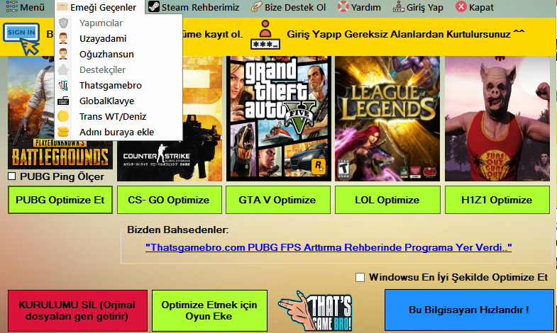 PUBG FPS Arttırma Rehberi   That's Game Bro