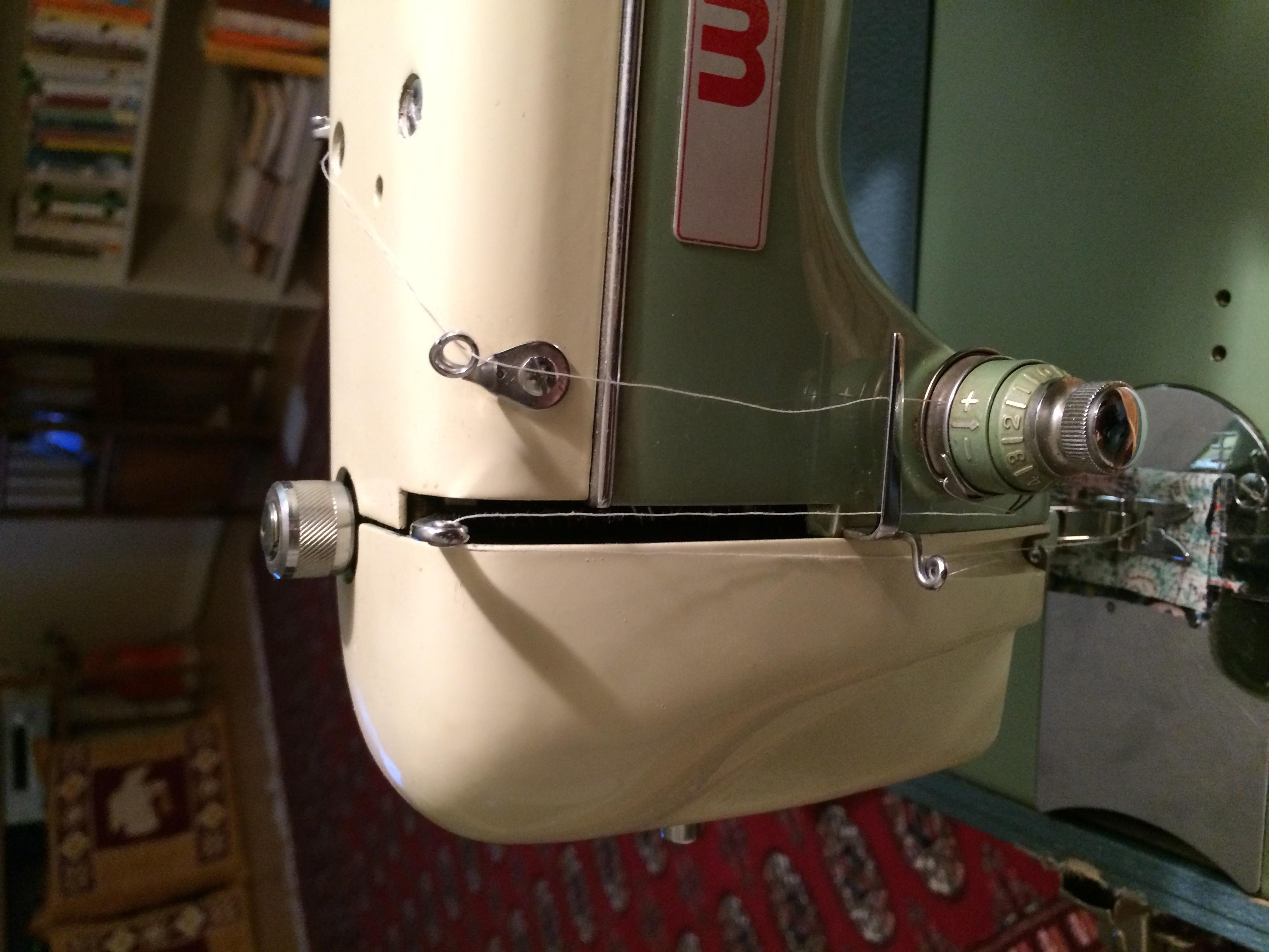 White Zig Zag Sewing Machine Tracing Threads