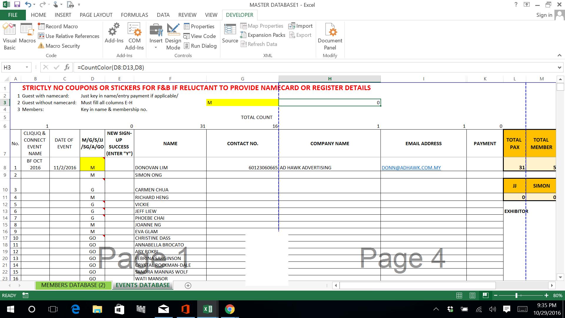 Vba Get Worksheet Count
