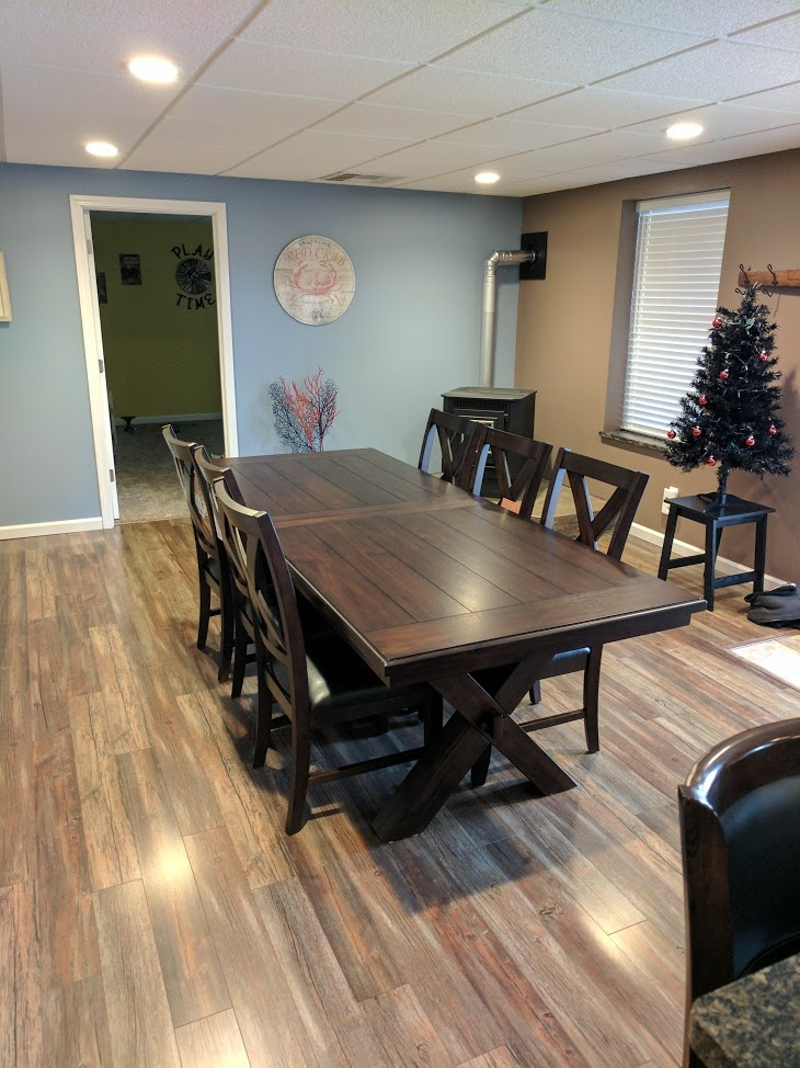 costco dining table and chairs barrel bayside furnishings 9-piece set