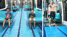 Taipei Transforms Subway Cars to Mimic Sporting Venues for Upcoming Summer Universiade