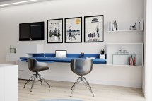 Inspirational Ideas Twin-home Office Workspaces