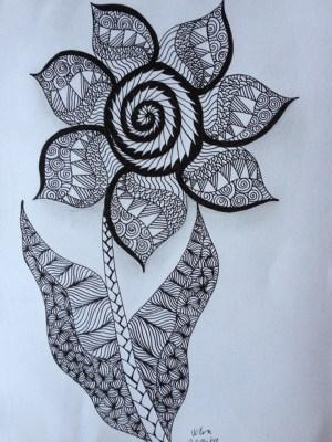 flower zentangle drawing pen pencil freehand patterns power jovoto