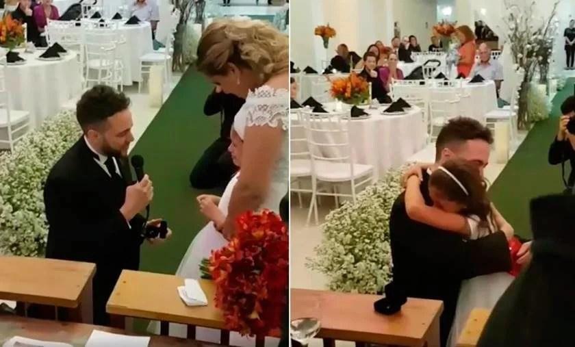 """Screenshot 100 840x507 - VEJA VÍDEO - Noivo comove internautas ao pedir que enteada seja sua """"filha para sempre"""""""