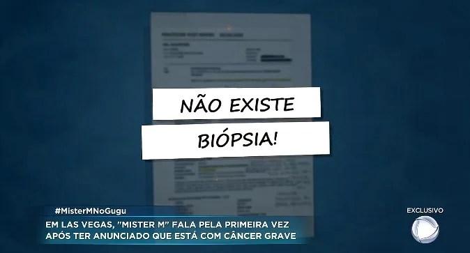 Screenshot 4131 - Mister M pede ajuda para tratar câncer, mas não apresenta exames