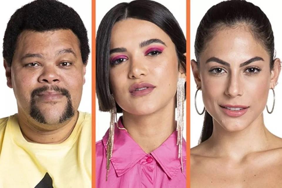 Babu Santana, Manu Gavassi e Mari Gonzalez no paredão do BBB20