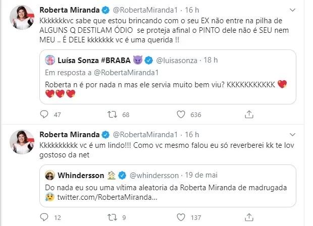 tweet roberta miranda