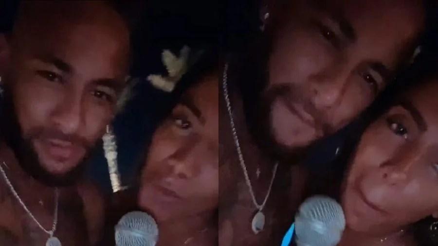 Anitta e Neymar em Ibiza