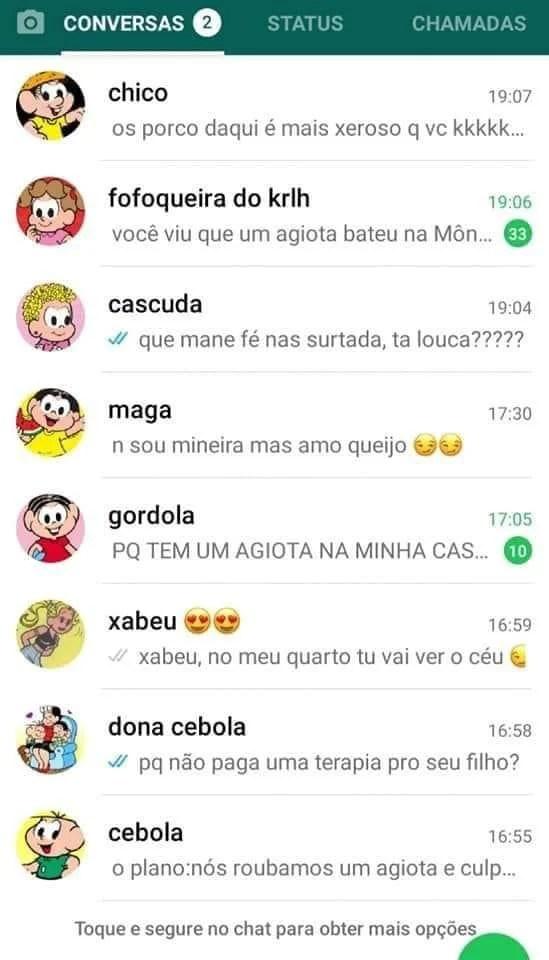 Fanfic do Whatsapp do Cascão