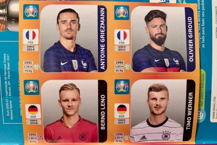 Figurinhas Eurocopa