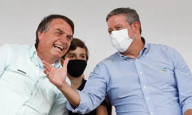 Jair Bolsonaro and Arthur Lira