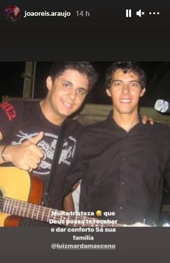 O pai de Cristiano Araujo lamentou a morte de Luizmar