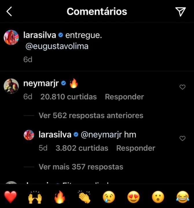 Neymar e Lara Silva
