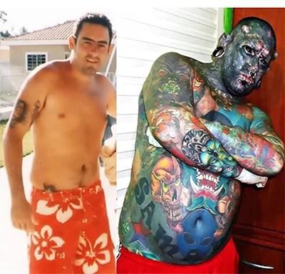 Homem mais tatuado do Brasil
