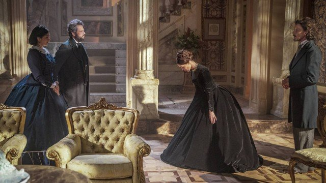 Condessa de Barral (Mariana Ximenes) e Dom Pedro II (Selton Mello) em Nos Tempos do Imperador