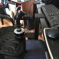 Office Chair Joystick Mount Hans Wegner Replica Monstertech Hotas Table Mounts Review Mudspike A Very Nice Feature Of The Design Is That You Can Adjust Rotation Stick So It Fits Comfortably In Your Hand If Intend To