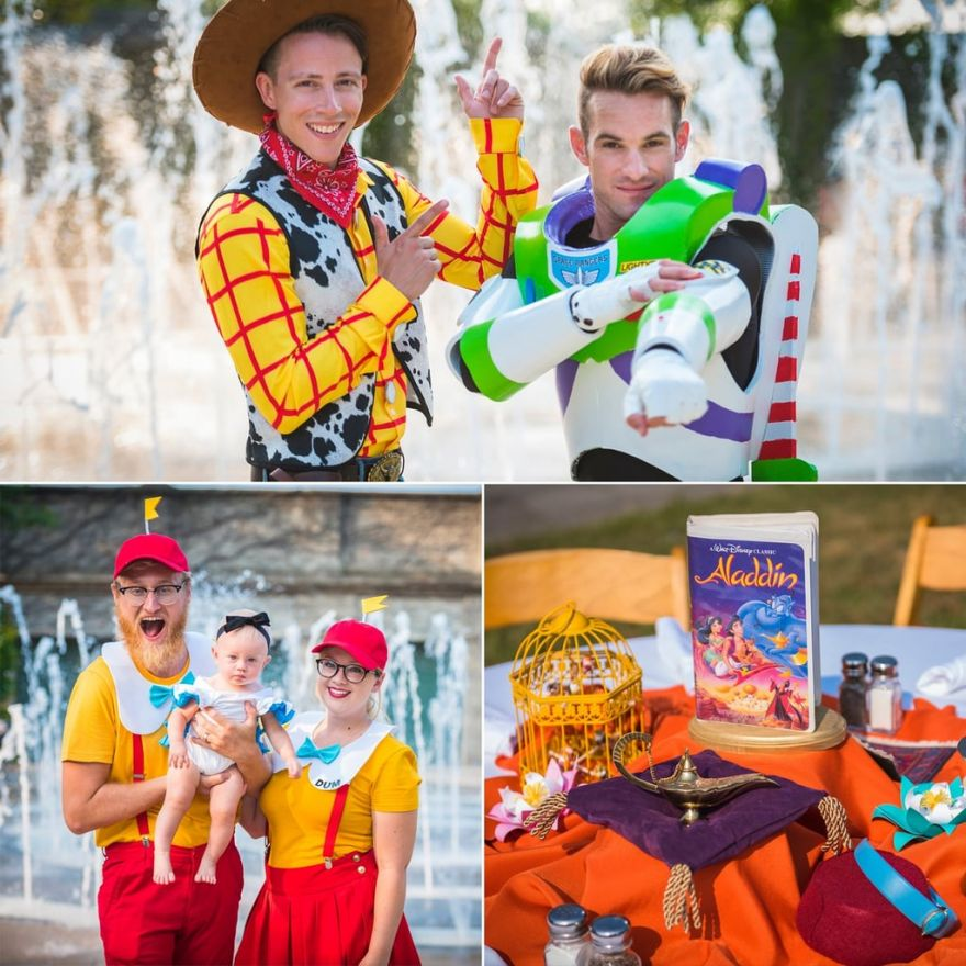 This DisneyThemed Wedding Had Every Guest Dress As A Disney Character  Neatorama