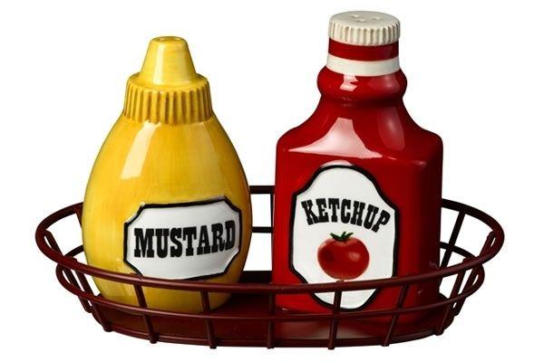 Ketchup And Mustard Salt Amp Pepper Shakers Neatorama