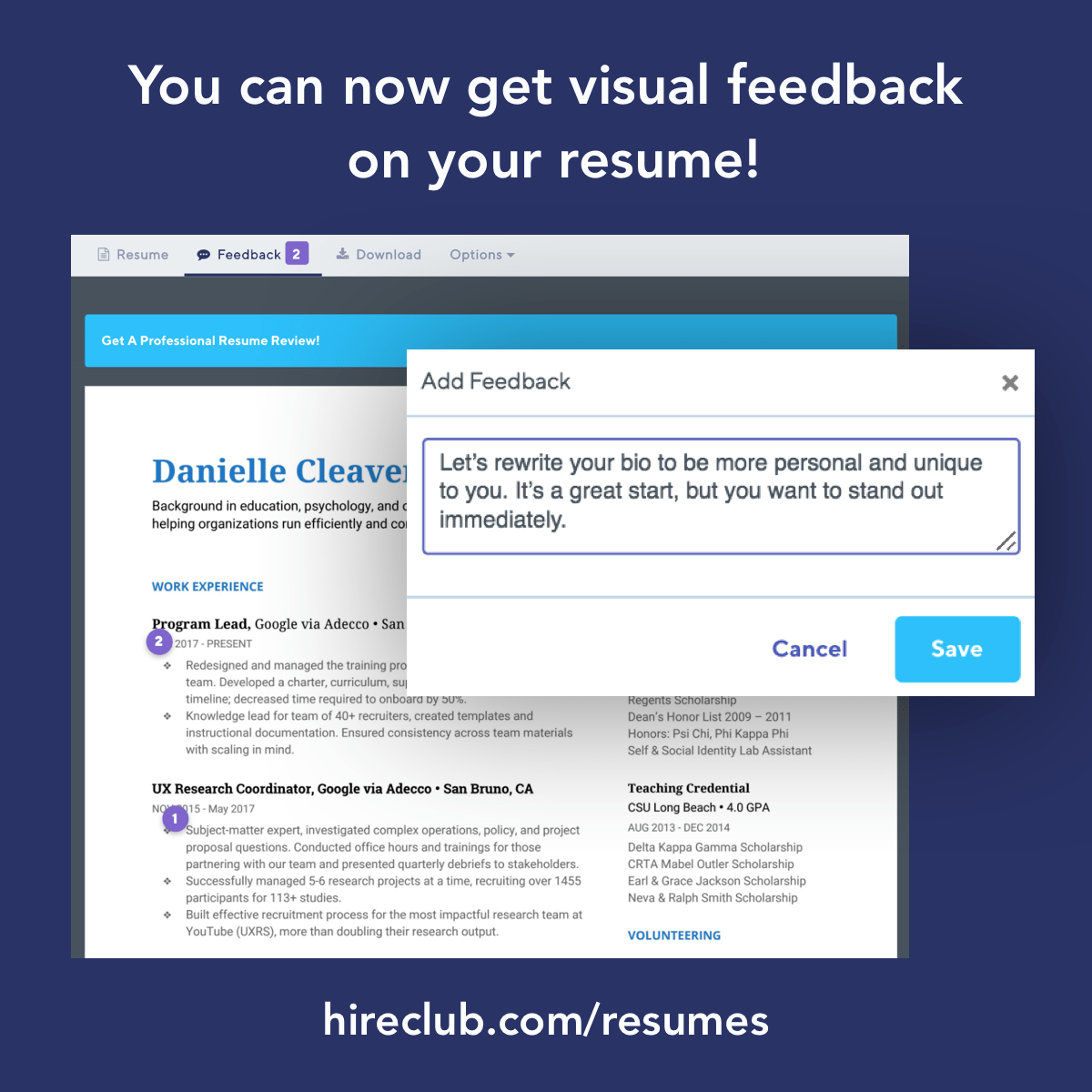 Resume Review Feature Launched!