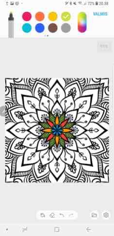 S Penillä on mahdollista värittää.