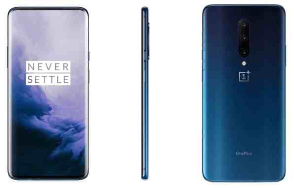 OnePlus 7 Pro Nebula Blue -värissä.