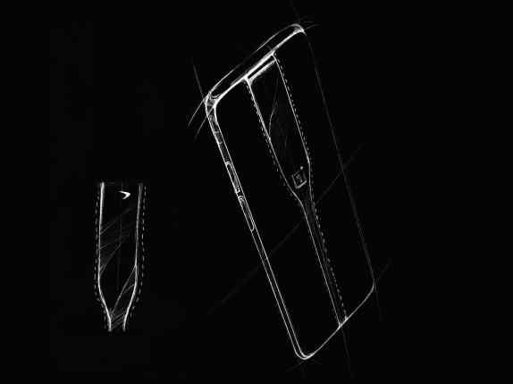 Luonnoskuva OnePlus Concept One -puhelimesta.