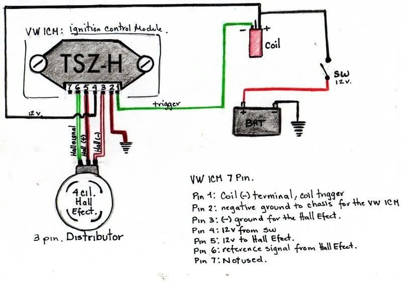 Hall Effect Distributor Wiring Diagram - Auto Electrical