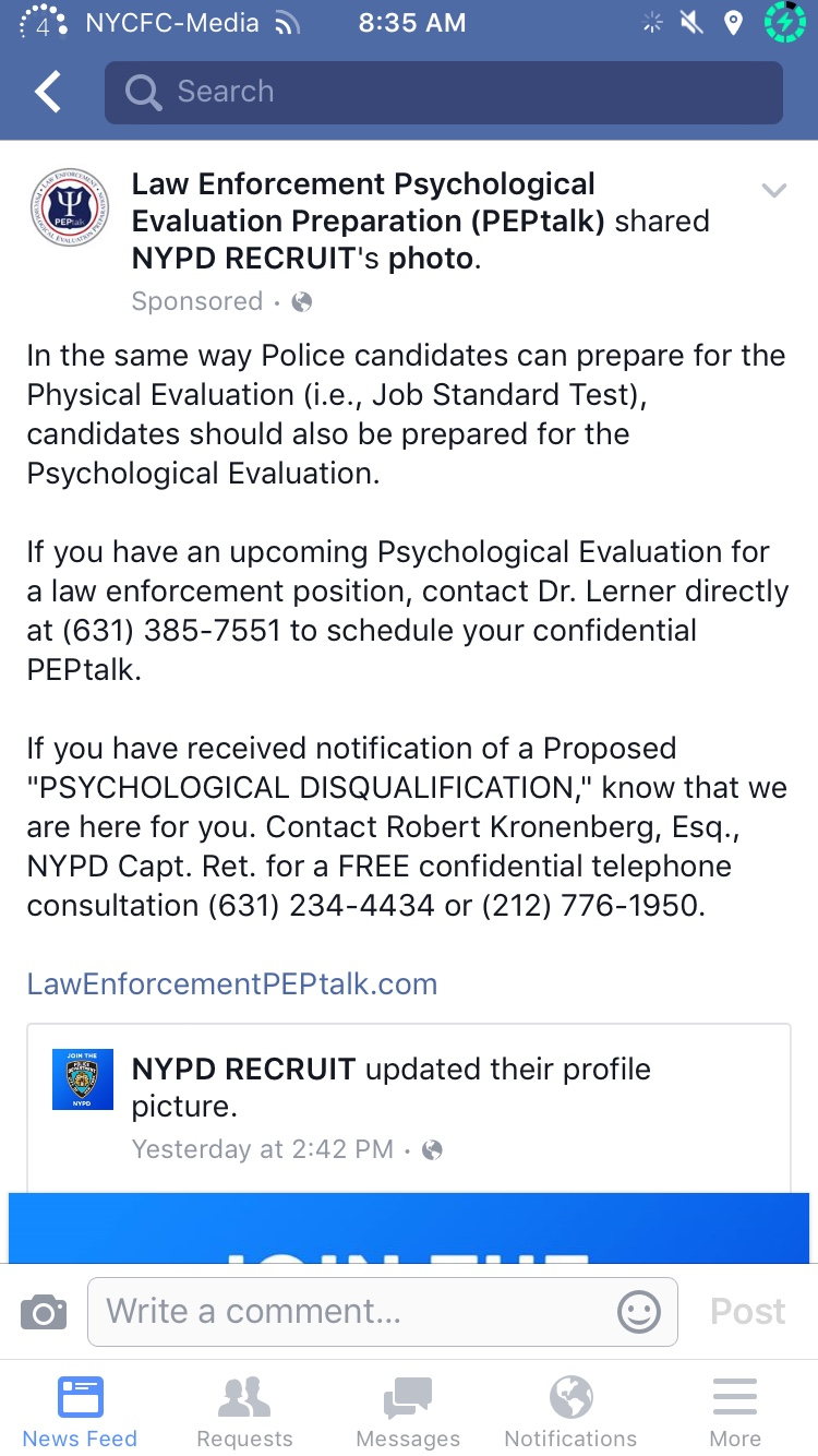 NYPD Psych DQ or on NYPD psych review info and help.. - Police ...