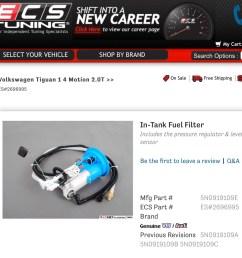 vwvortex com vw tiguan has no fuel filter tiguan fuel filter 2 [ 1138 x 1114 Pixel ]