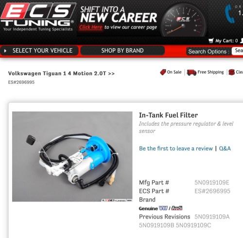 small resolution of vwvortex com vw tiguan has no fuel filter tiguan fuel filter 2