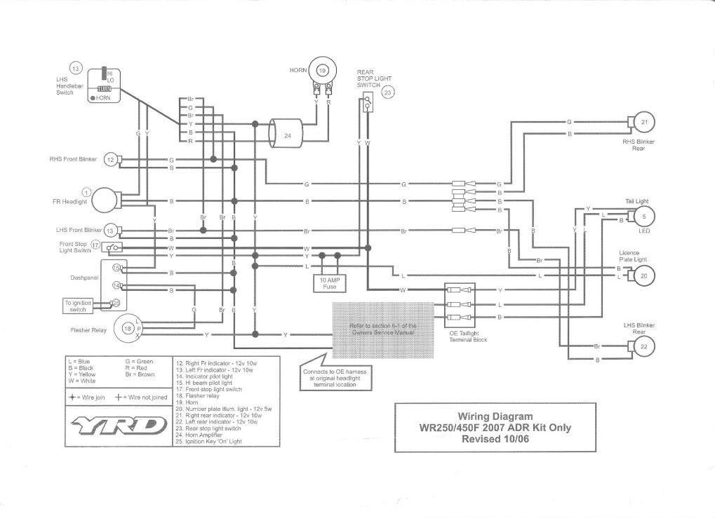 Wr250f Wiring Diagram Basic Wiring Diagram • Wiring
