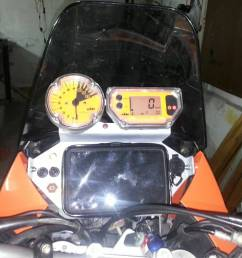 ktm 990 adventure s home made dashboard img  [ 1024 x 768 Pixel ]