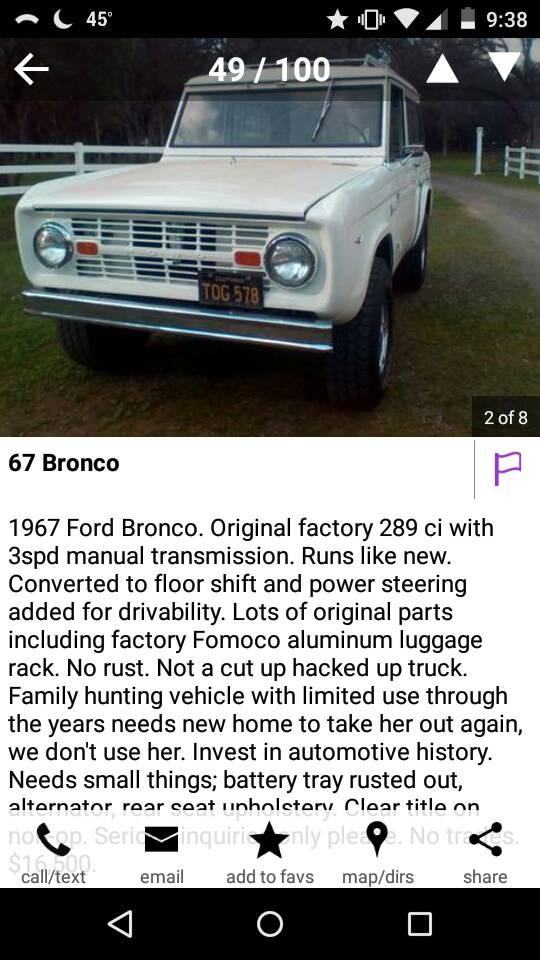 66 77 Bronco Craigslist : bronco, craigslist, Craigslist., ClassicBroncos.com, Forums