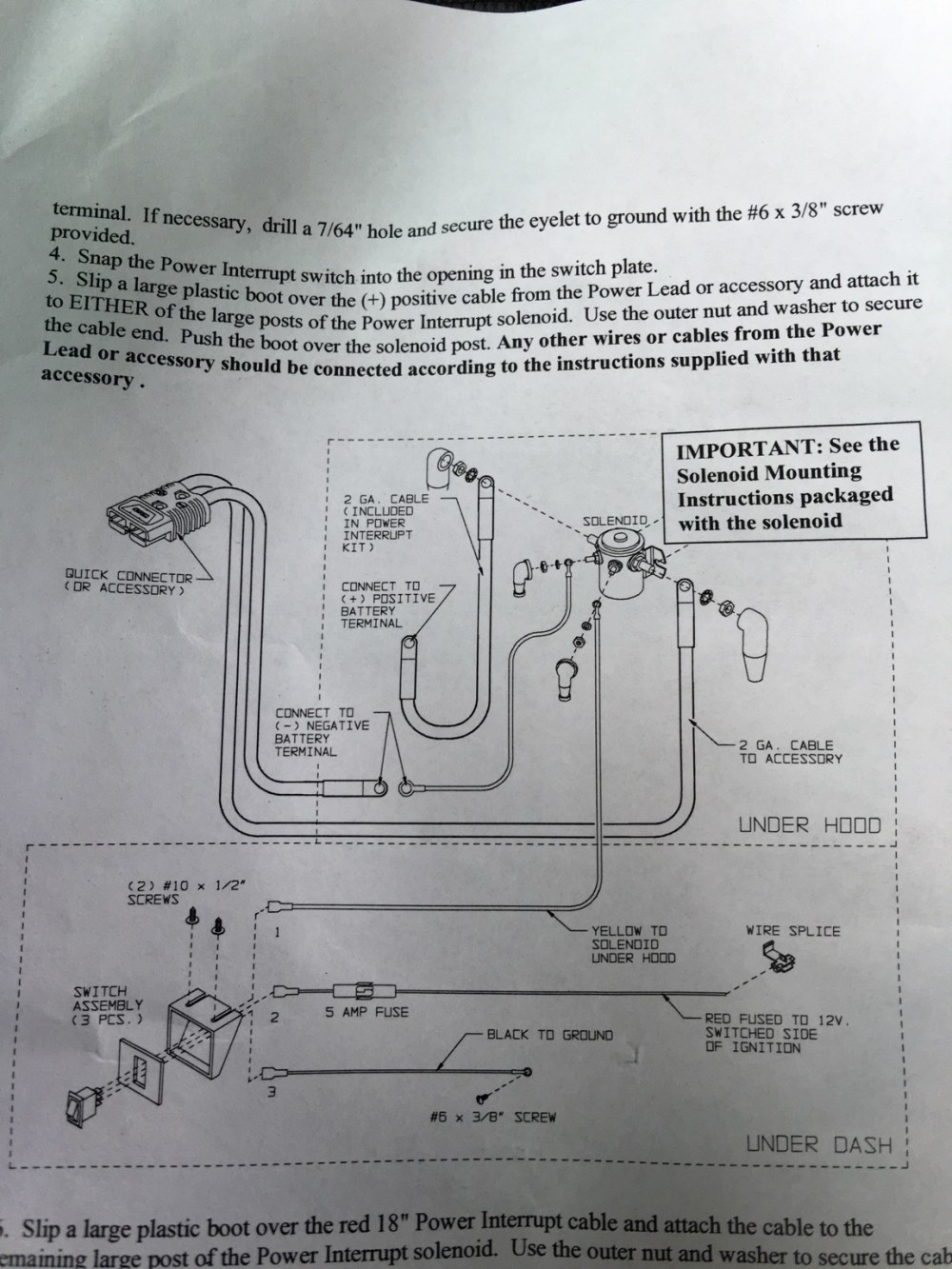 medium resolution of i have the solenoid mounted and the wiring harnesses connected