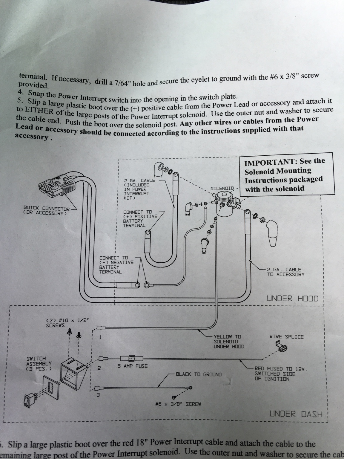 hight resolution of i have the solenoid mounted and the wiring harnesses connected