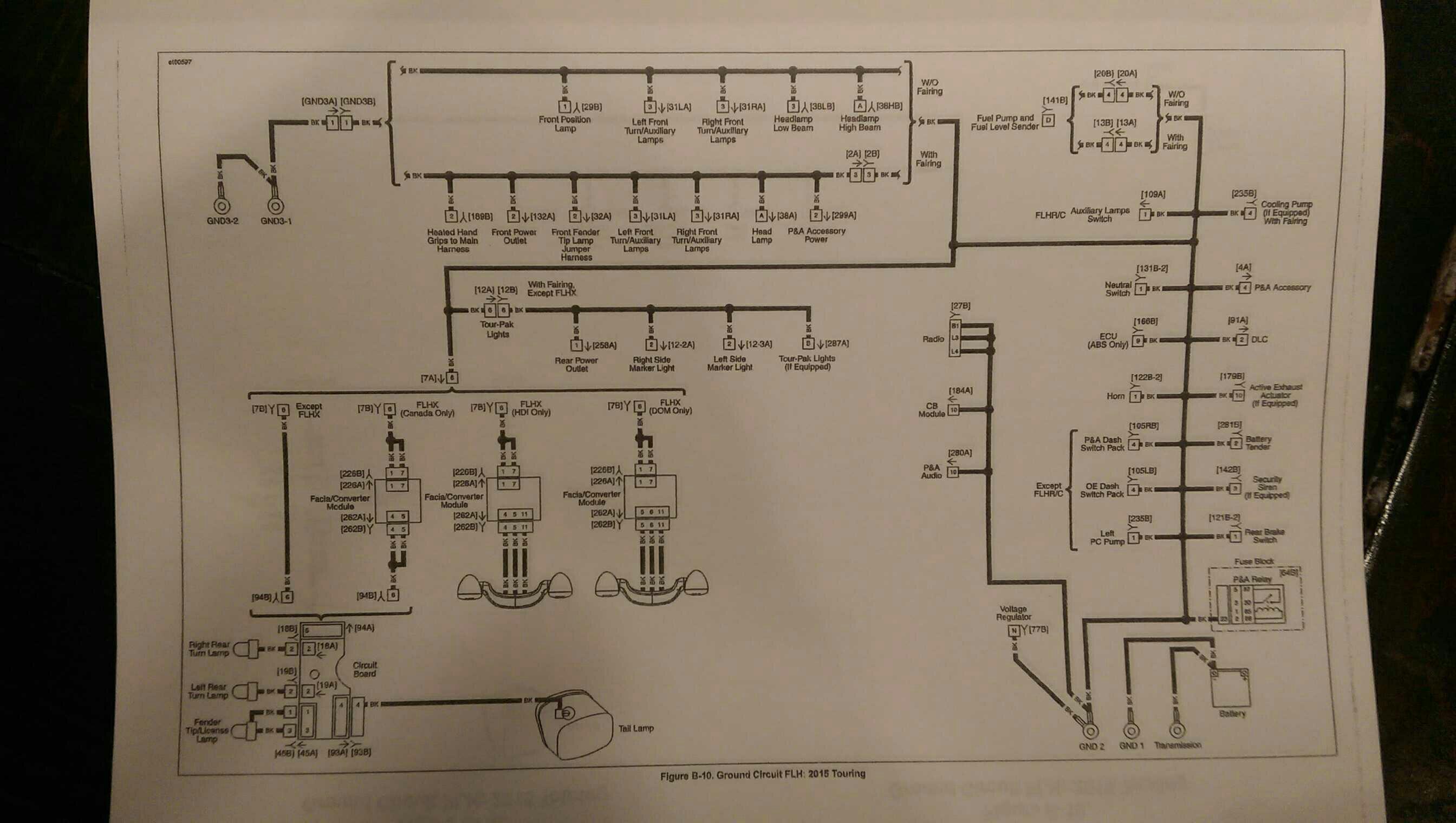 Light Back Street Glide Wire Diagram
