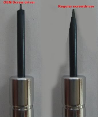 Hollow Ground Screwdriver