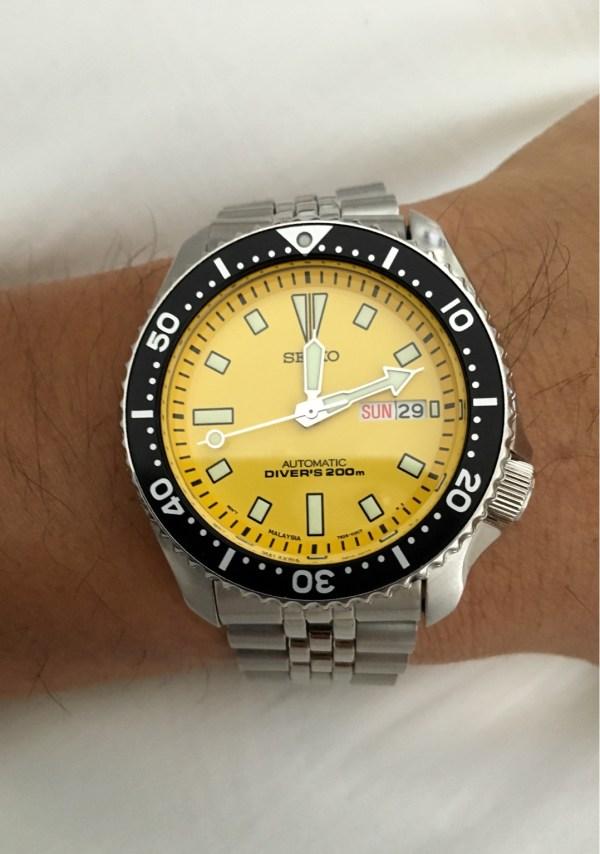 Seiko Skxa35 Yellow Diver Musings