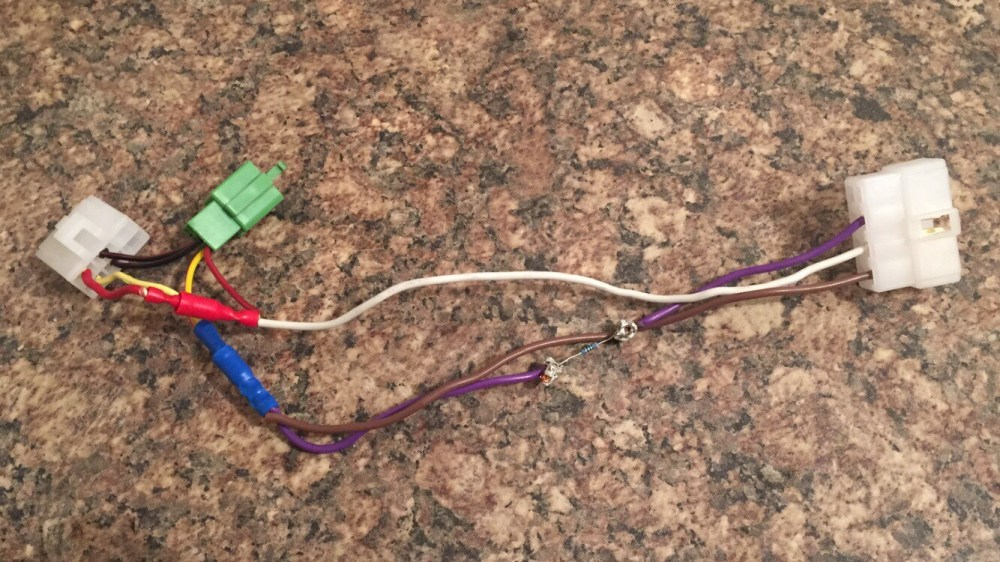 medium resolution of a pic of the harness i made plugs directly into the wiring harness i can t remember all of the details unfortunately as this was nearly a year ago