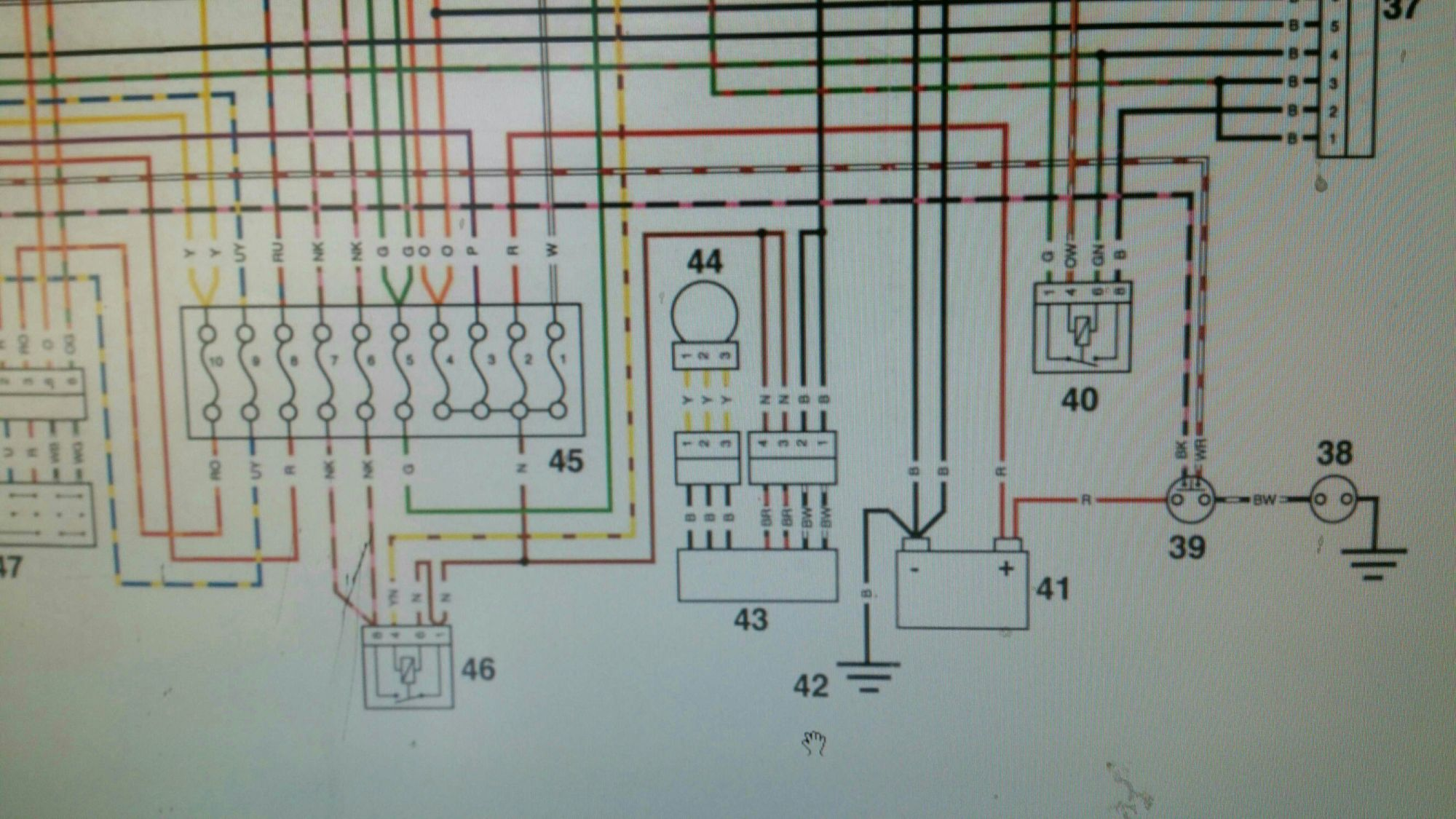 hight resolution of 2001 triumph tt600 wiring diagram triumph forum triumph rat