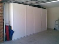 Garage storage - sliding door closet - Woodworking Talk ...