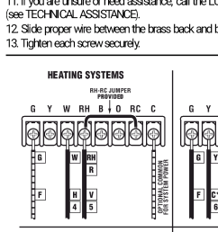 also the manual for the thermostat shows a diagram for heating wiring that shows a jumper wire from the rc to rh terminals is this necessary if i m only  [ 720 x 1280 Pixel ]