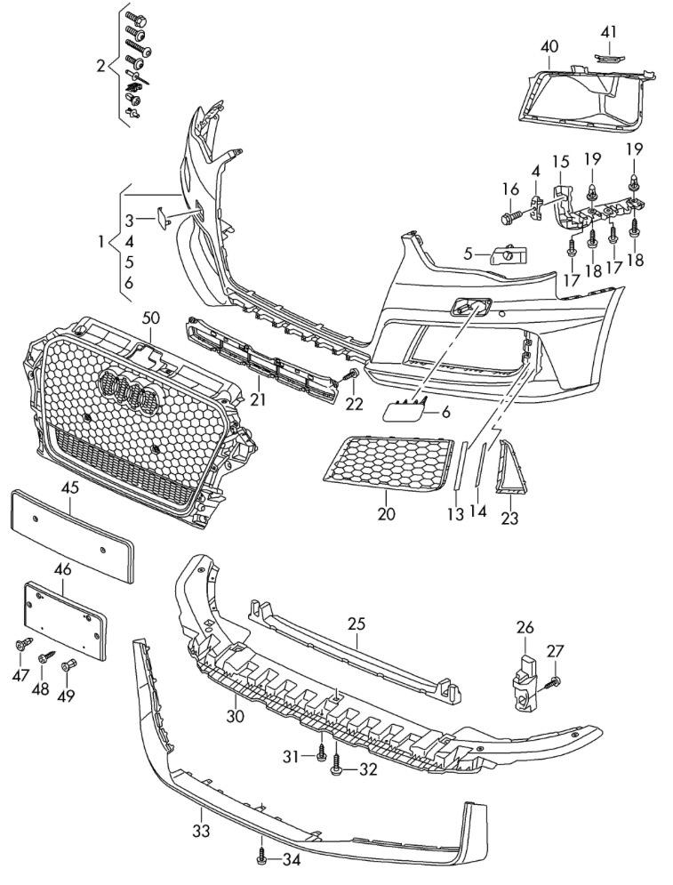 Audi A3 8v Grill Removal