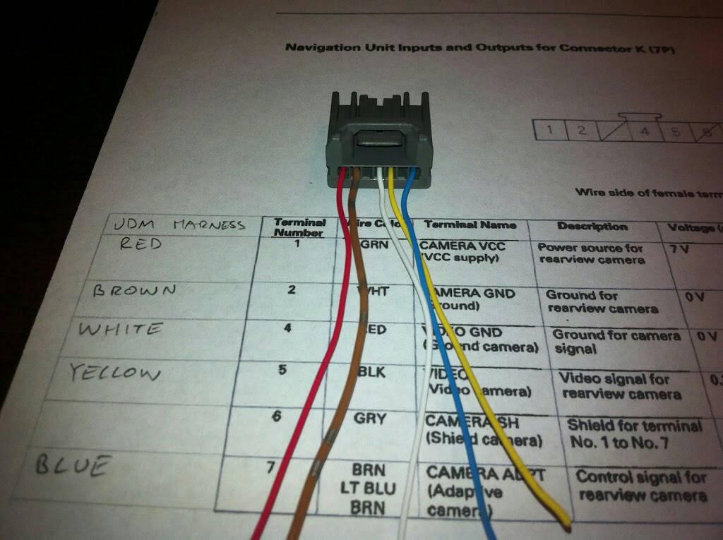 Backup Camera Wiring Diagram 4 Pin