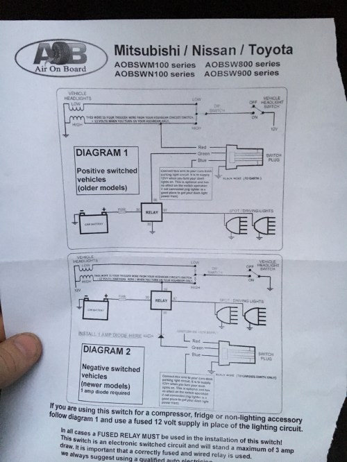 small resolution of how do i wire my rigid light bar to this aob switch says i need a diode any help appreciated