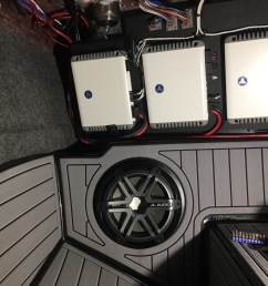 i am close to finishing the install on my 17 g23 just need to wire tower speaker amp 750 1 and put my roswell box in place of the stock jl sub  [ 1536 x 1152 Pixel ]