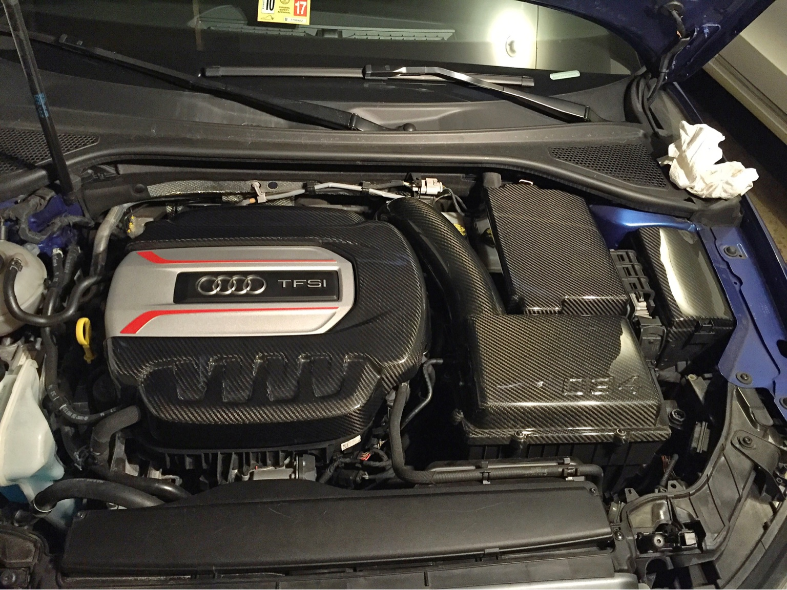 hight resolution of i installed the 034 motorsport carbon fiber engine cover battery cover and fuse box vwvortex com
