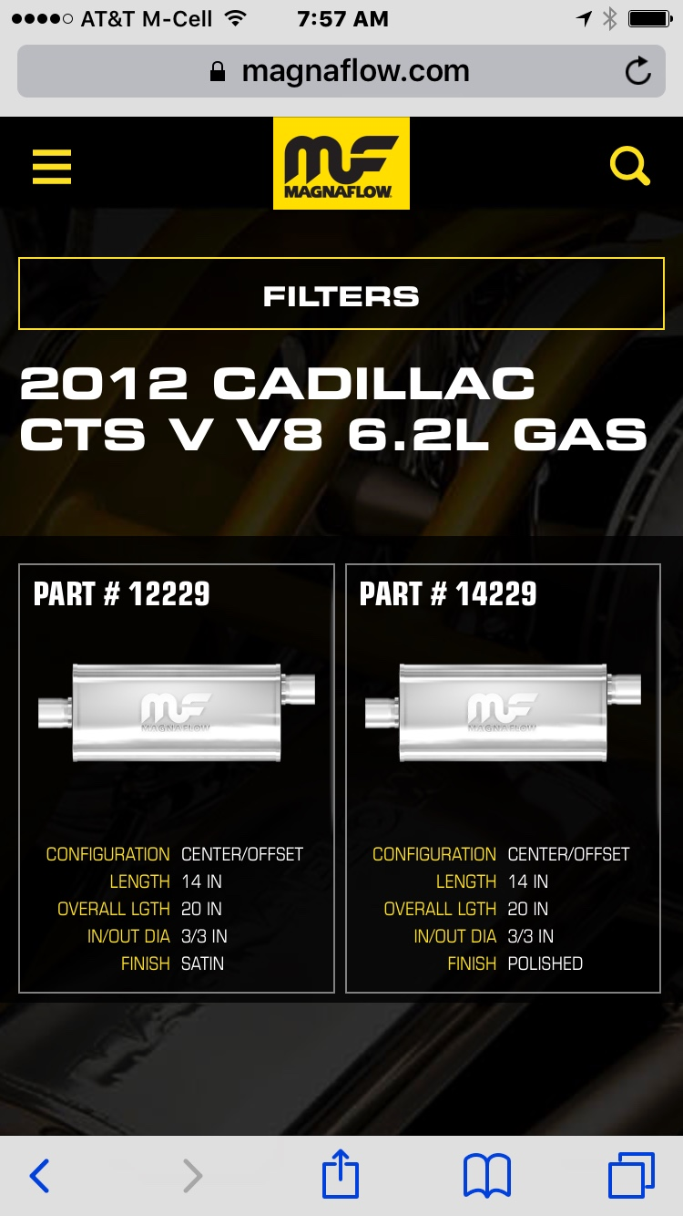 flowmaster mufflers cadillac cts v forum