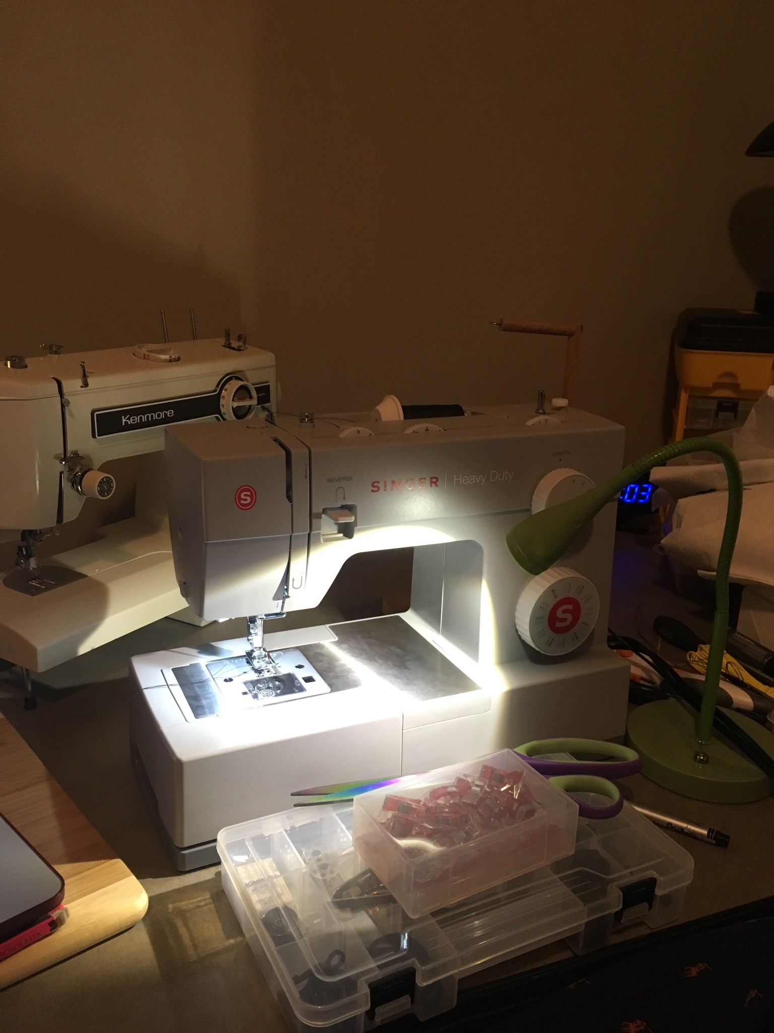 hight resolution of update just got the machine today and man am i impressed for 130 it sews like a dream when i first got the kenmore you see in the background i fought