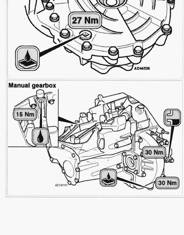 Ablass- und Kontrollschraube Getriebe 207 VTI 120 PS